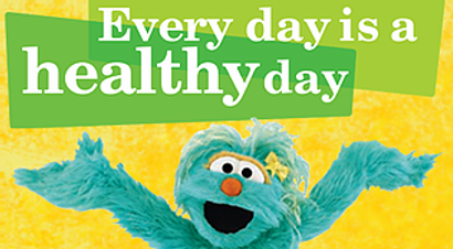 Opens link to youtube playlist from Sesame Street on healthy habits