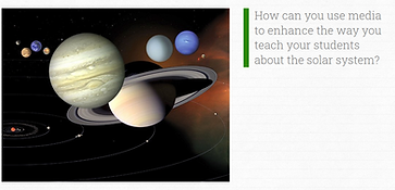 Link to PBS LearningMedia training on teaching about the solar system.