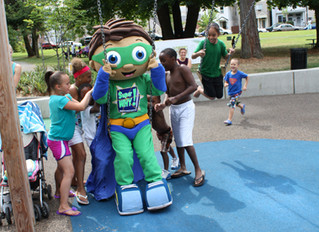 Super Why! Plays at Wright Park