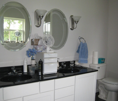 master bath post frame home