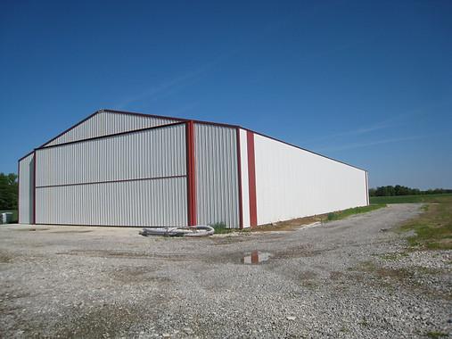 large hanger door storage building