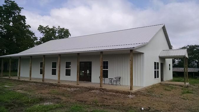 post frame home w/porches