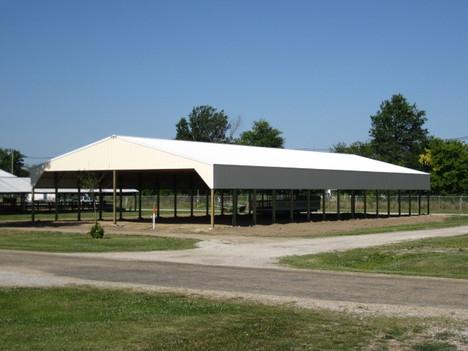 fairgrounds cattle barn