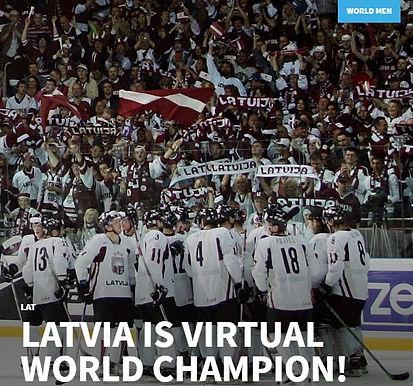 Сборная Латвии стала победителем виртуального чемпионата мира по хоккею