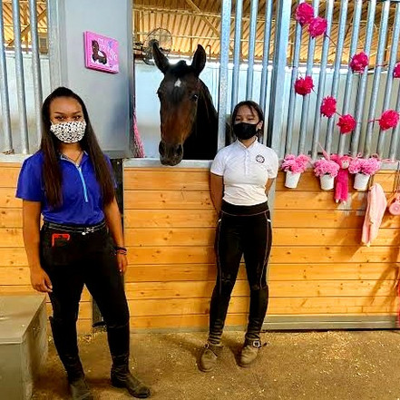 """A""""Pretty in Pink"""" Homecoming for Allegra AF owned by Junior Rider, Faye Calloway"""