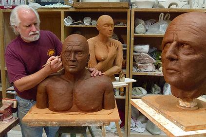 Dan Woodard, sculpture studio, art studio, figurative sculpture, figurative art, contemporay sculpture, contemporary art, sculptor