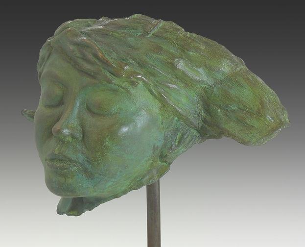 sculpture, dan woodard, figurative sculptue, woman's head, female sculpture
