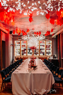 Red Party Table Set