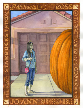 There Was No Way Cinderella Was Going To Make It To The Mall. She'd Never Driven A Pumpkin Before!