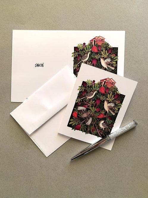 Fig and Mockingbird - 5 Card + Envelope set