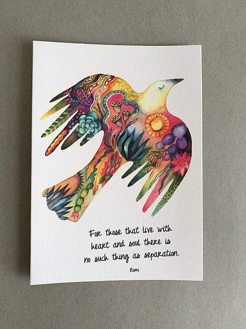 I Carry the Desert  - Condolence Card + Envelope set