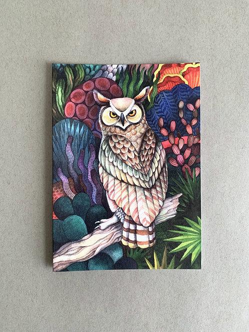 Desert Owl - Blank Card + Envelope set