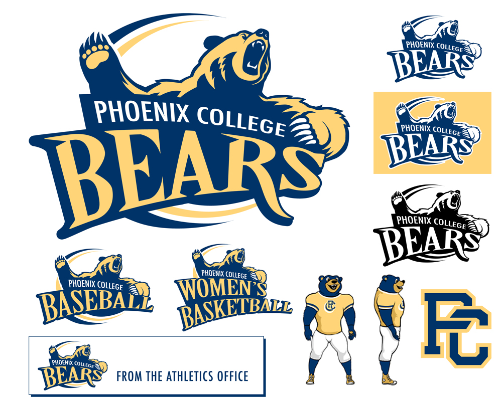 Graphic Identity - Phx College Bears