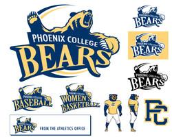 Graphic Identity - Phx College Bears