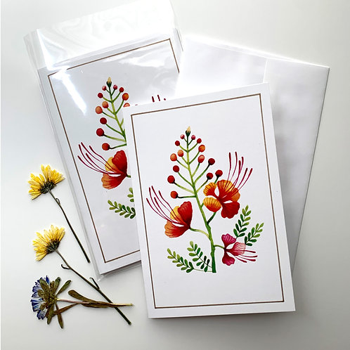 Desert Botanical Card + Envelope Set