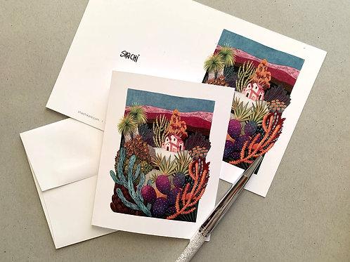 Desert Home - 5 Card + Envelope set