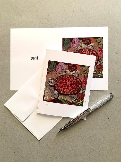 Desert Tortoise - 5 Card + Envelope set