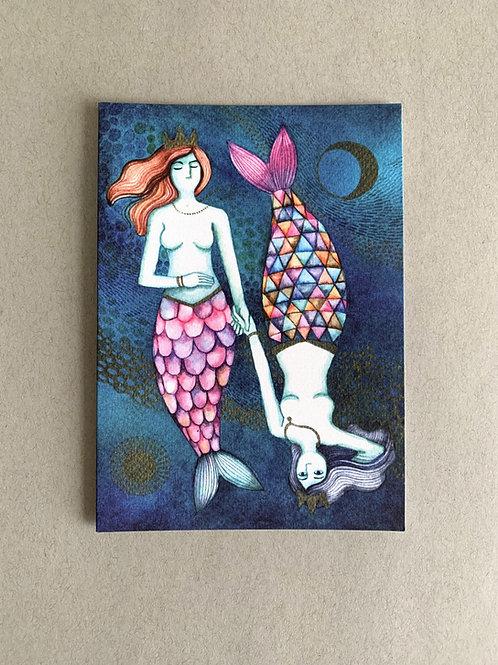 Pisces  - Friend Card + Envelope set