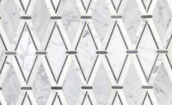 Tile - Mosaic Bone White Diamonds