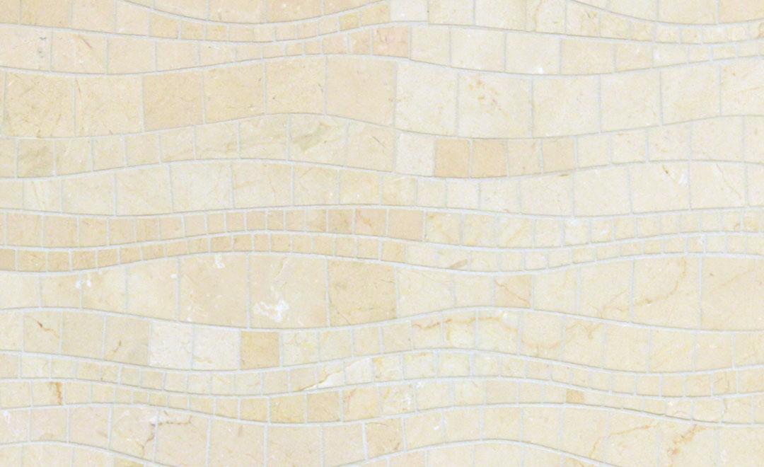 Tile - Mosaic Cream Waves