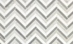 Tile - Chevron Gray & White Stripes
