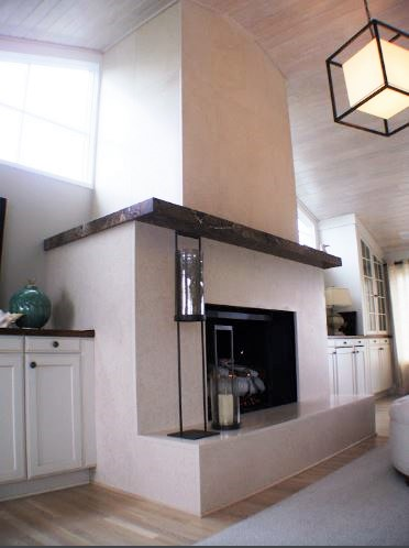 Fireplace of Custom Granite & Marble