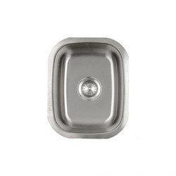 Small Vertical Oval Stainless Kitchen Sink (1815)