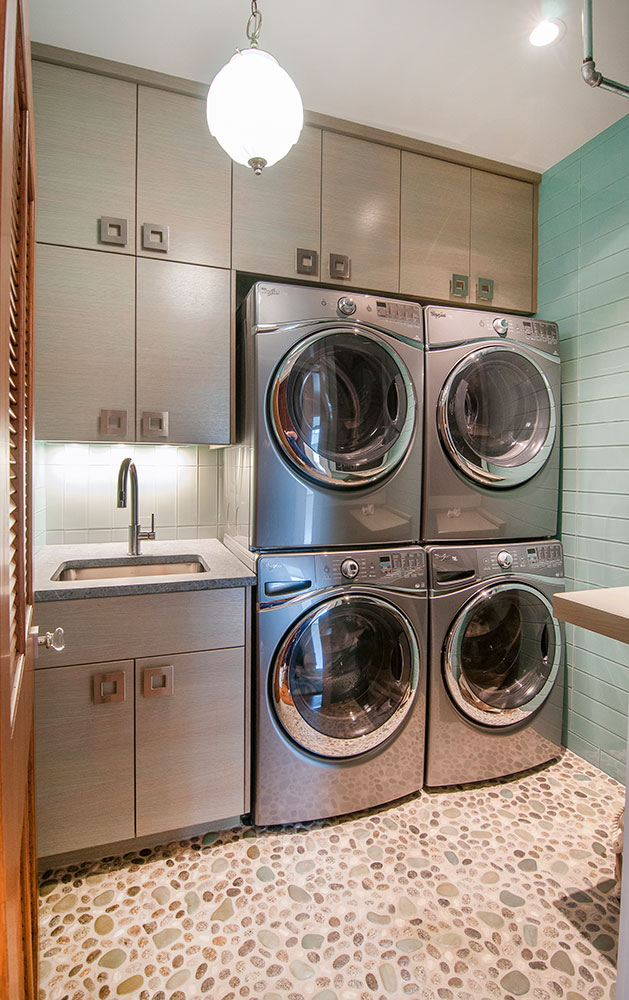 Tile Stone Laundry Room