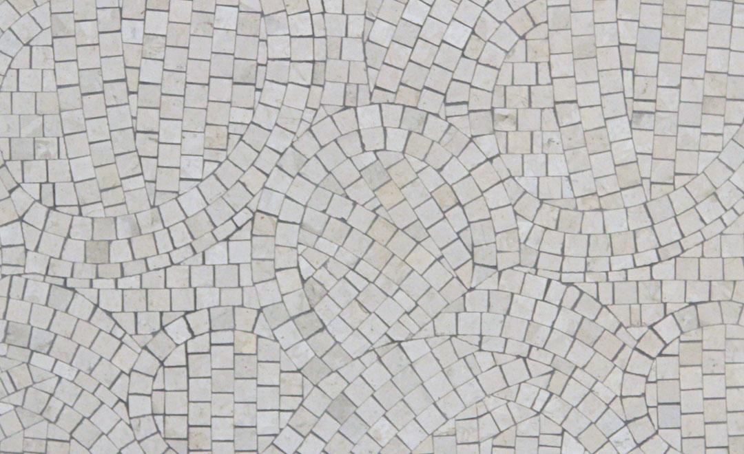 Tile - Mosaic Travertine & Sandstone Swirl