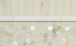 Tile - Hexagon Mother of Pearl