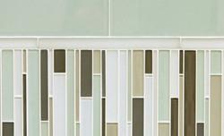 Tile - Glass Green Stripes