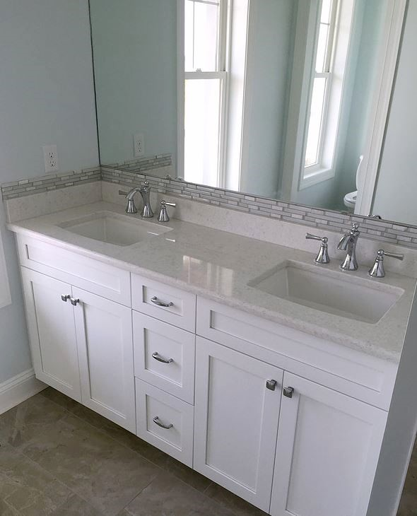 Custom Bathroom Vanity with Sink