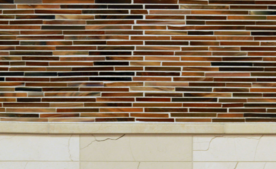 Tile - Glass Auburn Stripes