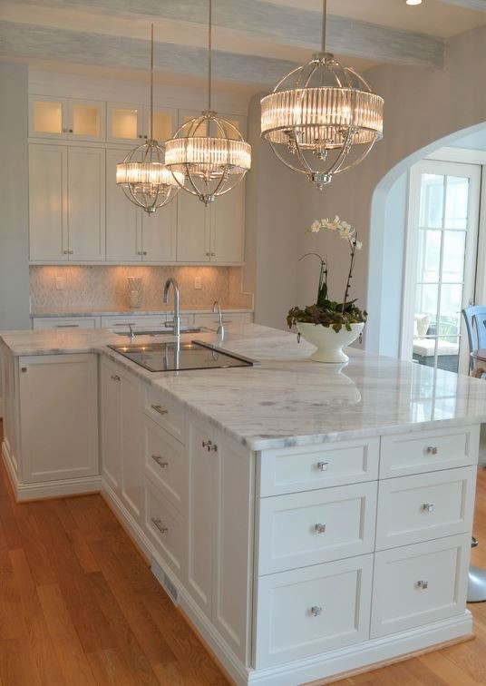 Marble Kitchen Counter and Sink