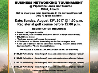 Business Networking Golf Tournament Sunday, Aug. 13th