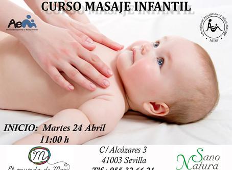 Curso Masaje Infantil para Bebés de 0 a 1 año