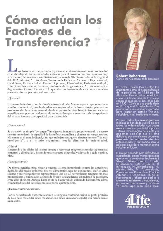 ¿Cómo actúan los Factores de Transferencia?