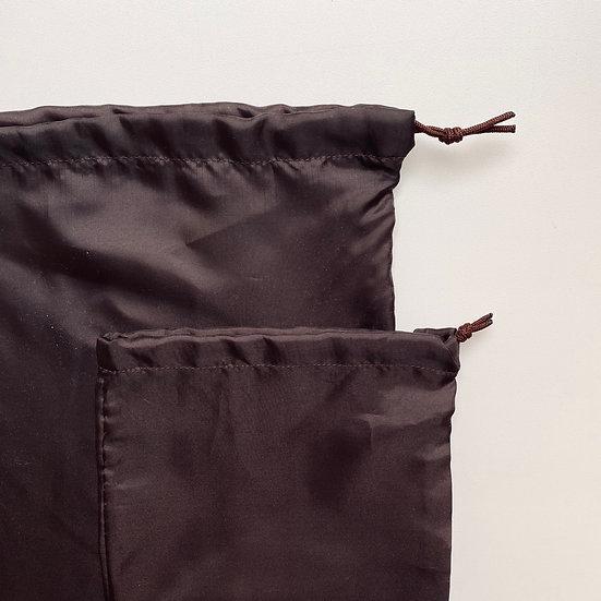 Экомешок из подкладочной ткани Brown Silk
