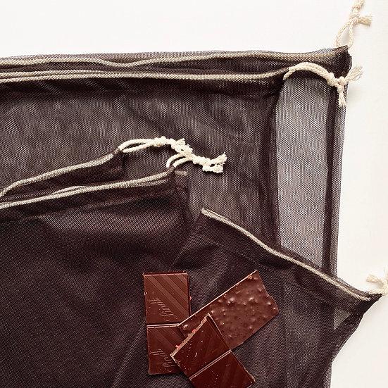 Экомешок из сетки Dark Chocolate
