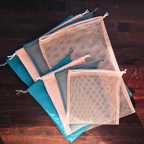Набор№7 из сетки и бязи (8 шт 2х размеров)