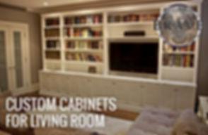 custom cabinets for living room