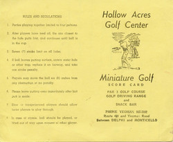 Original miniature scorecard