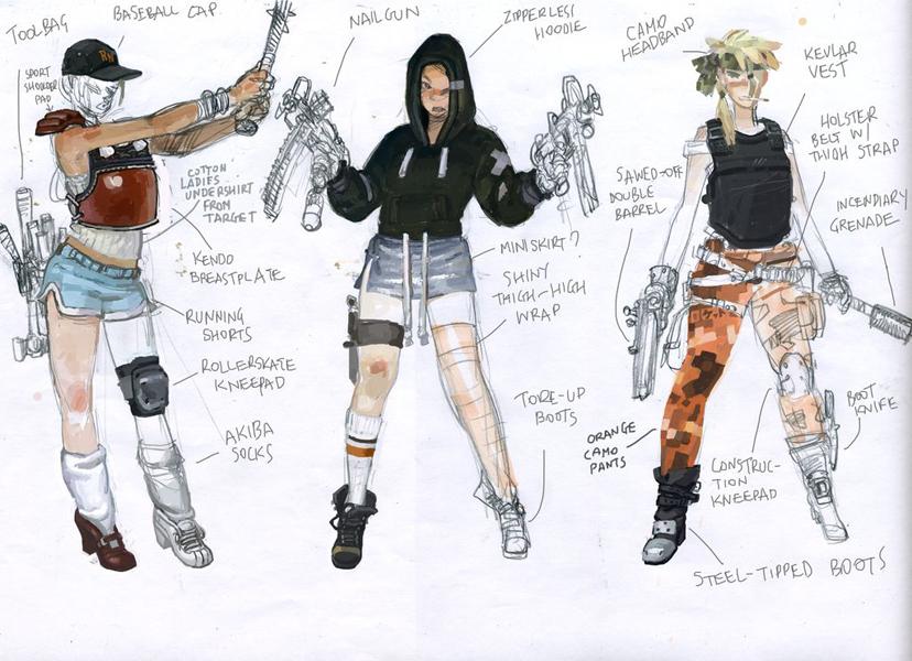 Costume designs: human