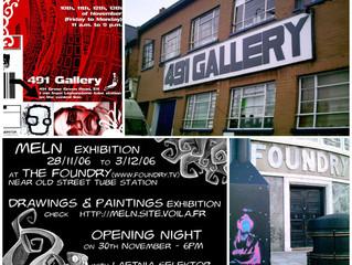Expositions à Londres de 2006 à 2009
