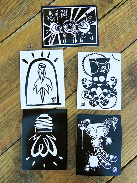 Stickers (lot de 5)