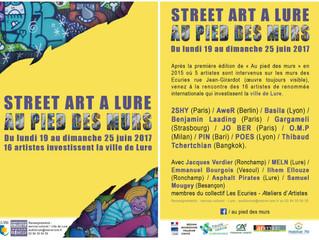 AU PIED DES MURS #2 festival street art à Lure