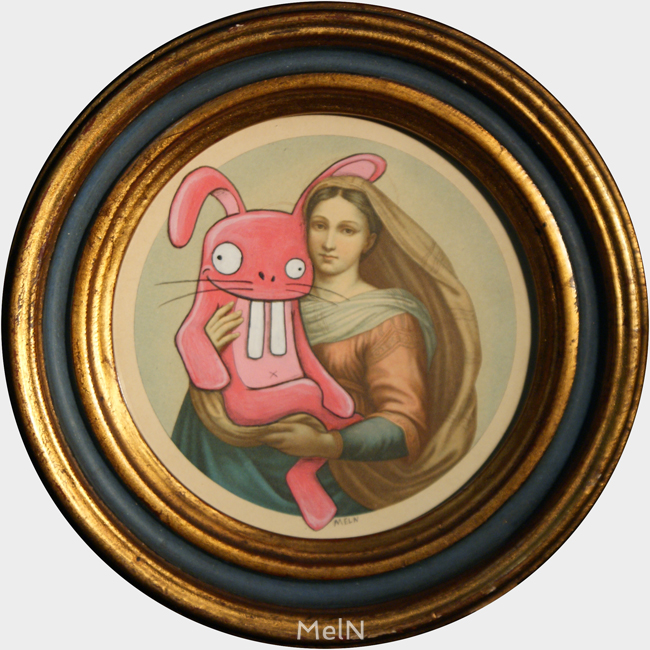 Le lapin rose et la Madone, 2015