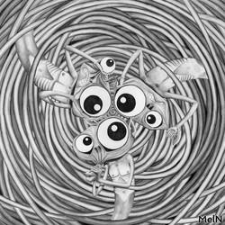 intelligences débranchées 50x50cm, 2006