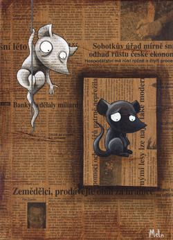 Souris en cage, 2009