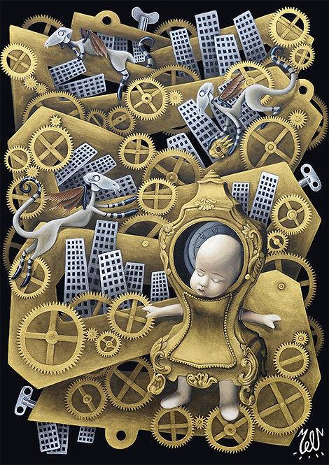"""Carte""""Le Temps"""""""